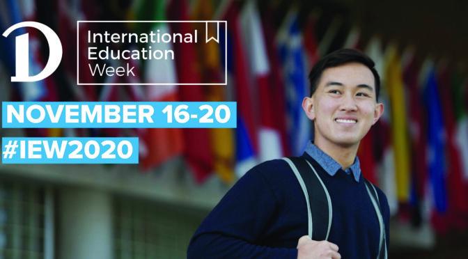 Mark your calendars: International Education Week 2020