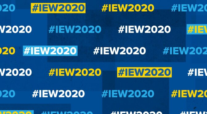 Get involved in #IEW2020
